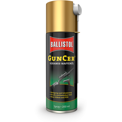BALLISTOL GunCer Spray Olio per Armi con additivi di nano-Ceramica 200 ml