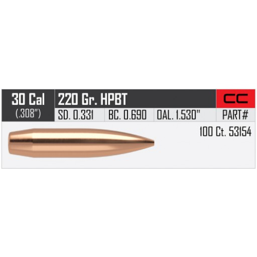 "NOSLER Competition .308"" 220gr HPBT #53154"