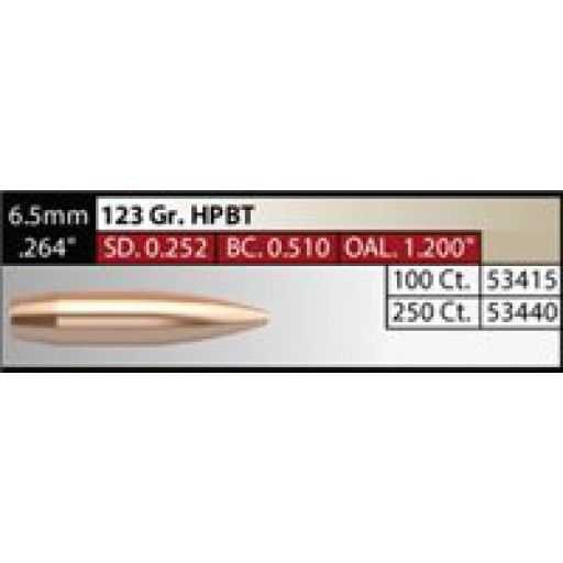 "NOSLER Competition .264"" 123gr HPBT #53440"