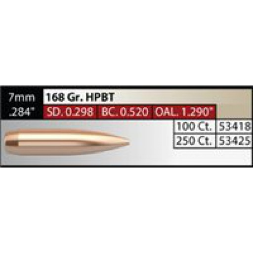 "NOSLER Competition .284"" 168gr HPBT #53425"