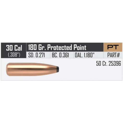 "NOSLER Partition .308"" 180gr Protected Point #25396"