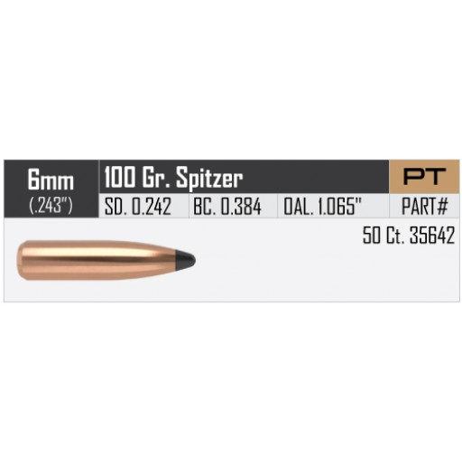 "NOSLER Partition .243"" 100gr SP #35642"