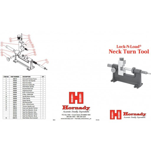 HORNADY Neck Turn Tool Pilot Set Screw 8-32 x 1/8 #390724