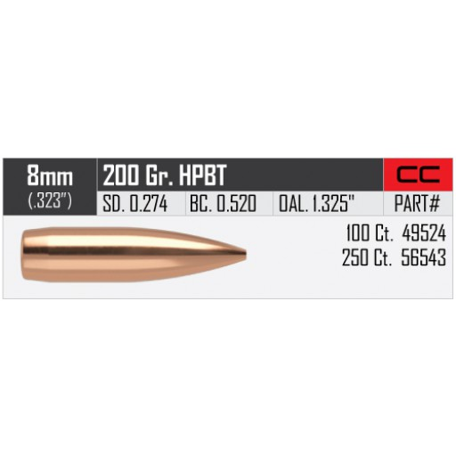"NOSLER Competition .323"" 200gr HPBT #56543"