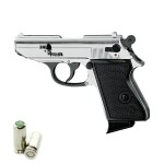 HARD PUNISHER Pistola a Salve Walther PPK Lady-K 85 Cal.8 Top Firing Acciaio