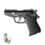 HARD PUNISHER Pistola a Salve Walther PPK Lady-K 85 Cal.8 Top Firing Nera