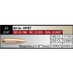 "NOSLER Competition .224"" 69gr HPBT #65823"