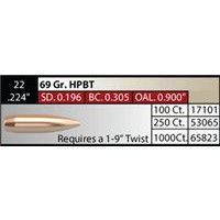 "NOSLER Competition .224"" 69gr HPBT #53065"