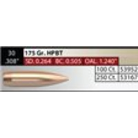 "NOSLER Competition .308"" 175gr HPBT #53167"