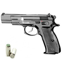 HARD PUNISHER Pistola a Salve CZ 75 Cal.8 Top Firing Nera