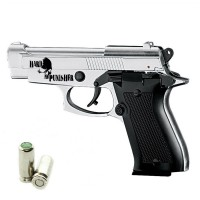 HARD PUNISHER Pistola a Salve Beretta 85 Cal.8 Top Firing Acciaio