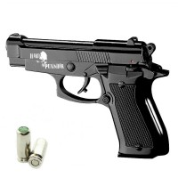 HARD PUNISHER Pistola a Salve Beretta 85 Cal.8 Top Firing Nera